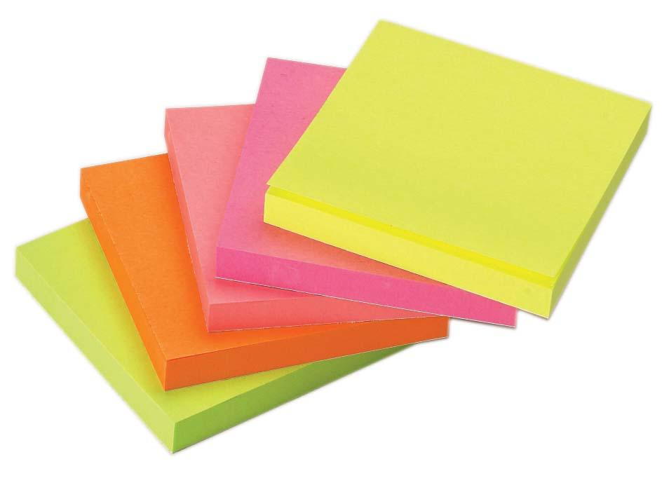αυτοκόλλητα χαρτάκια σημειώσεων φωσφορούχα noki officeworld