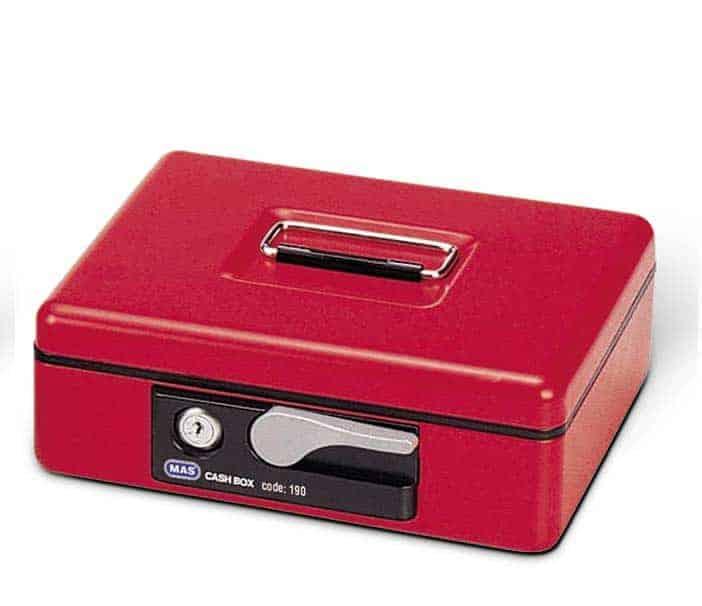 Κουτί ταμείου με κλειδαριά 21.5x23.5cm MAS190 officeworld
