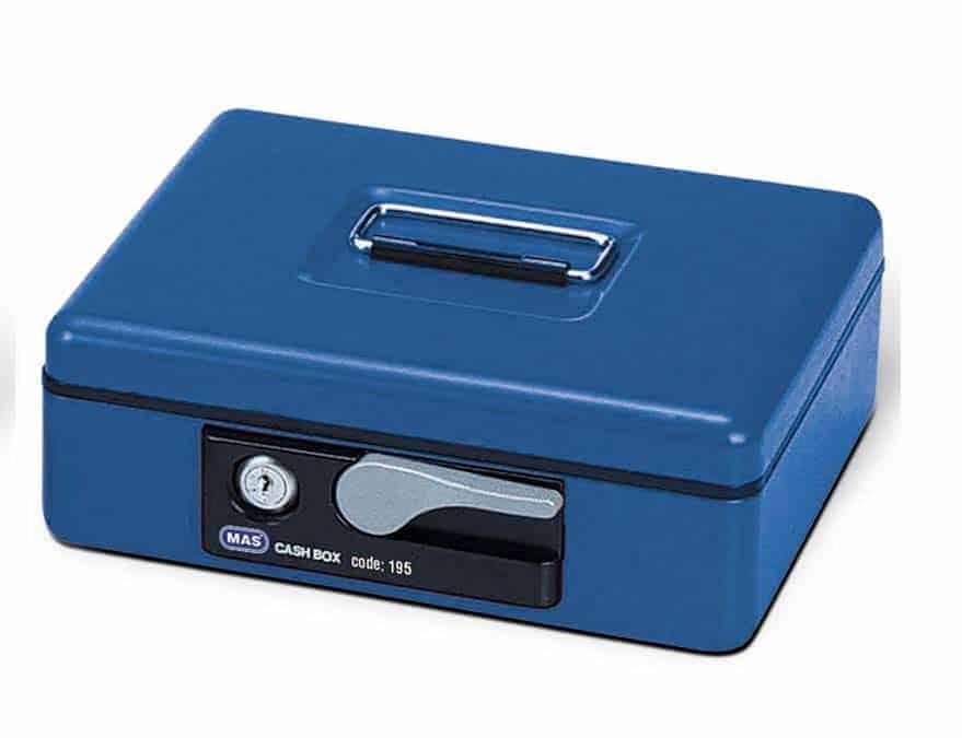 Κουτί ταμείου με κλειδαριά 26x30.5cm MAS195 officeworld