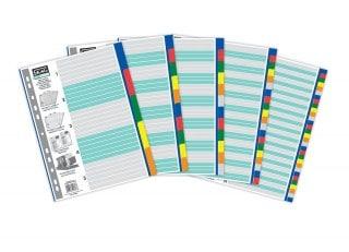 ευρετήρια πολυπροπυνέλειο p.p χρωματιστα eco officeworld