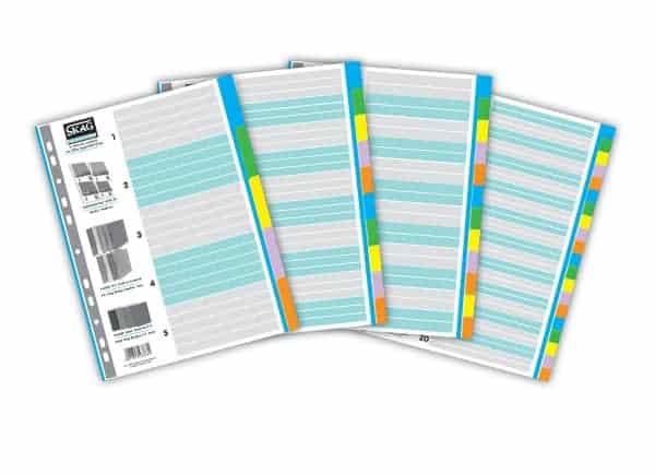 ευρετηρια χαρτινα χρωματιστα skag officeworld