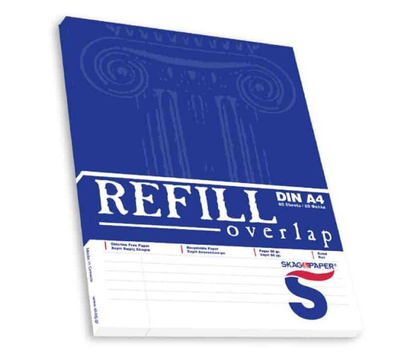 μπλοκ γραφης refill overlap πλαγιο μπλε skag officeworld