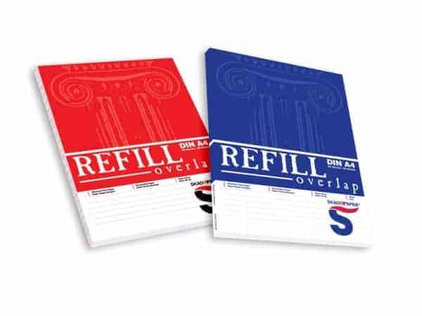 μπλοκ γραφης refill overlap skag officeworld