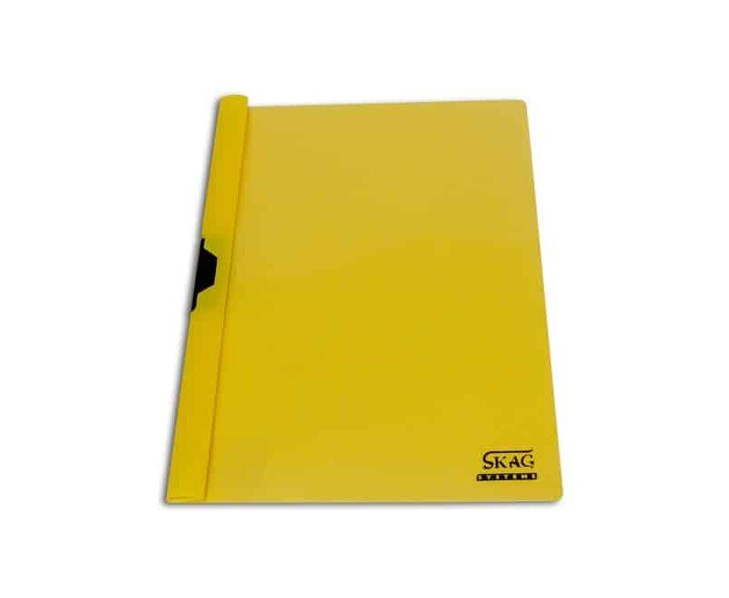 ντοσιέ p.p. κιτρινο με μεταλλικό κλιπ skag officeworld