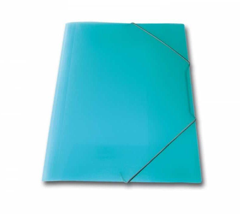 ντοσιε λάστιχο p.p. διαφανη skag γαλάζιο officeworld