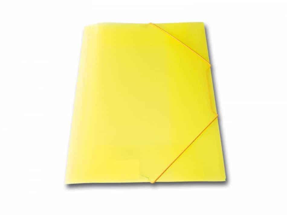 ντοσιε λάστιχο p.p. διαφανη skag κίτρινο officeworld