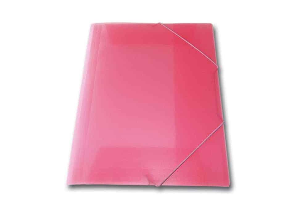 ντοσιε λάστιχο p.p. διαφανη skag κόκκινο officeworld