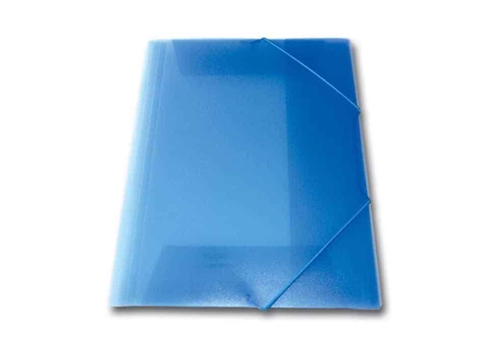 ντοσιε λάστιχο p.p. διαφανη skag μπλε officeworld