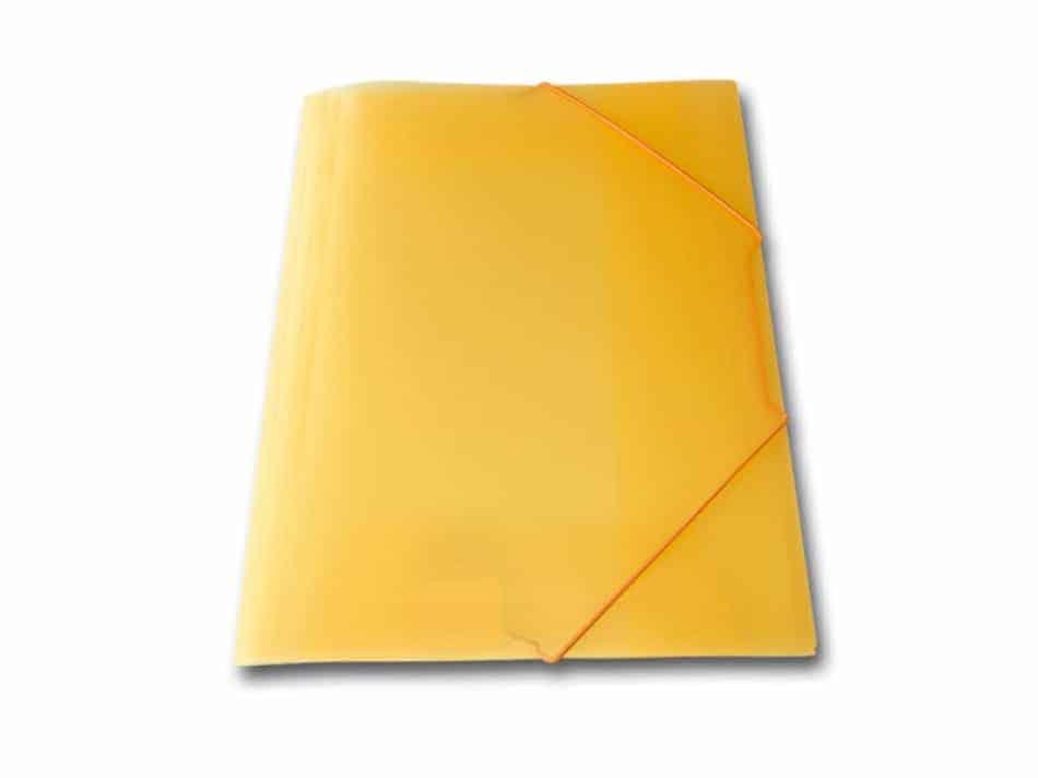 ντοσιε λάστιχο p.p. διαφανη skag πορτοκαλί officeworld