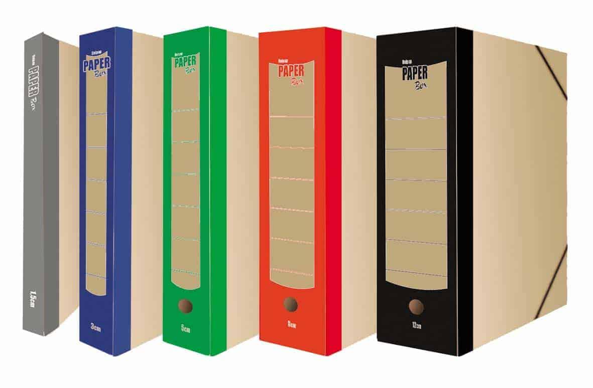 κουτι με λαστιχο paper box uni officeworld