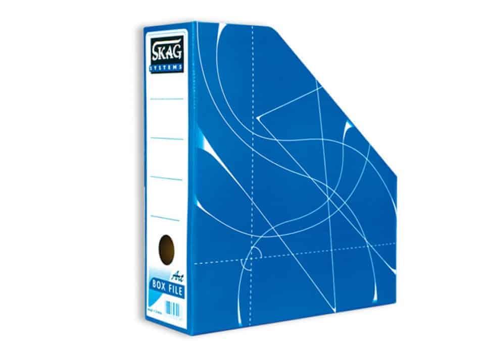 κουτι magazine box κοφτό μπλε skag officeworld