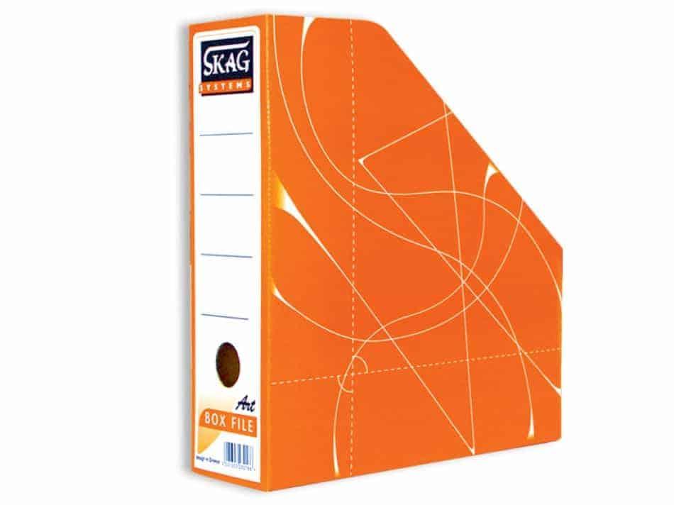 κουτι magazine box κοφτό πορτοκαλι skag officeworld