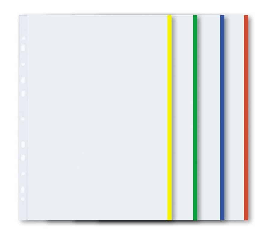 ζελατινες α4 με χρωματιστη ακρη uni officeworld
