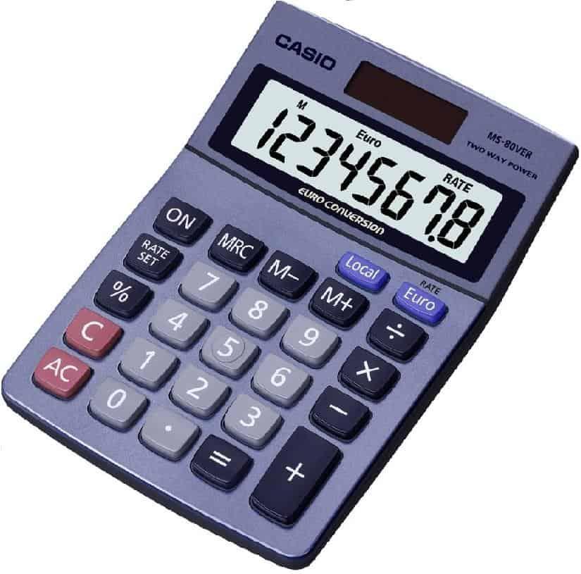αριθμομηχανη γραφείου 8 ψηφίων MS-80VER casio officeworld