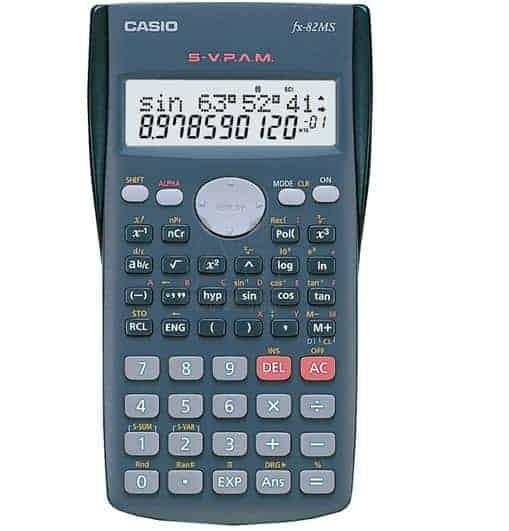 αριθμομηχανη επιστημονικη 12+12 ψηφιων FX-82MS casio officeworld