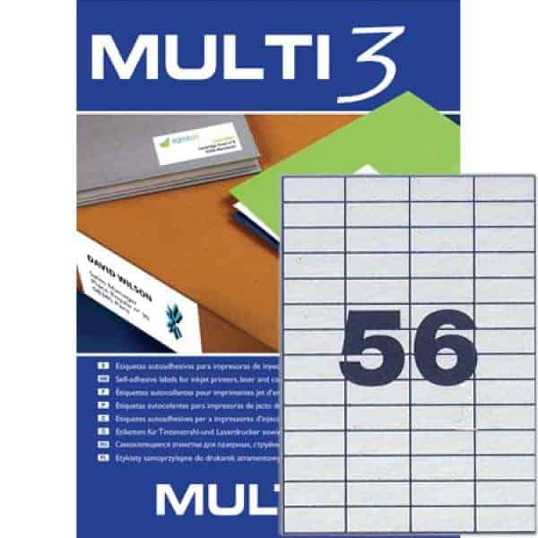 αυτοκολητη ετικετα multi3 52.5x21.2mm officeworld