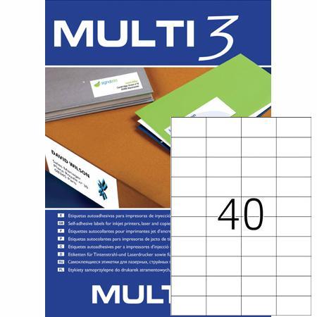 αυτοκολητη ετικετα multi3 52.5x29.7mm officeworld