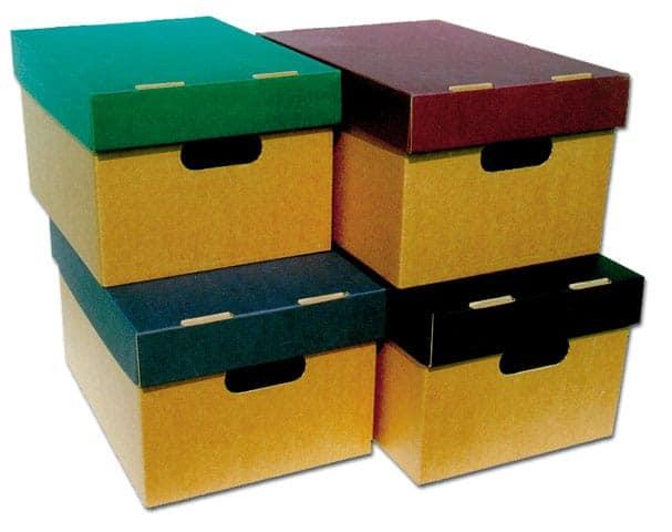 κουτι αρχειου Α4 με χρωματιστο και υφασμάτινο καπακι Paperworld next officeworld