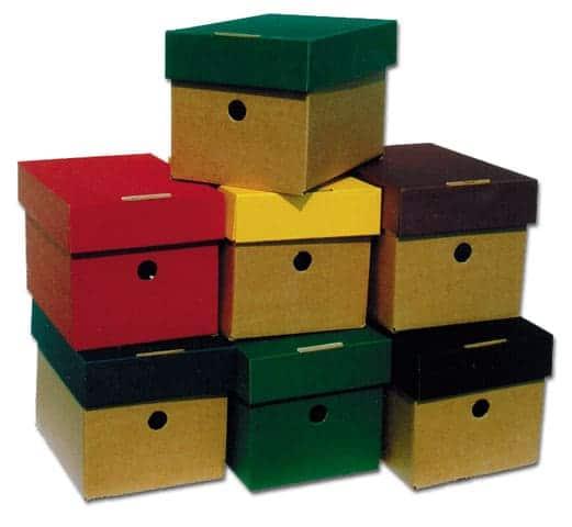 κουτι αρχειου με χρωματιστο και υφασμάτινο καπακι Α5 Paperworld next officeworld