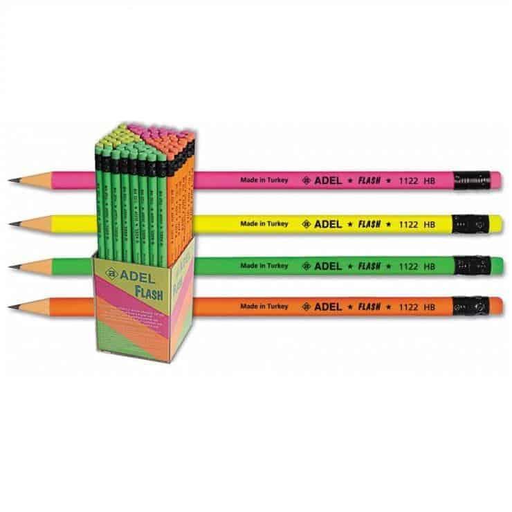 μολυβια με σβηστρα flash adel officeworld