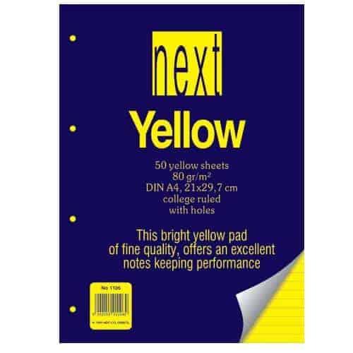 μπλοκ δικηγορικο με εξωφυλλο yellow ριγε next officeworld