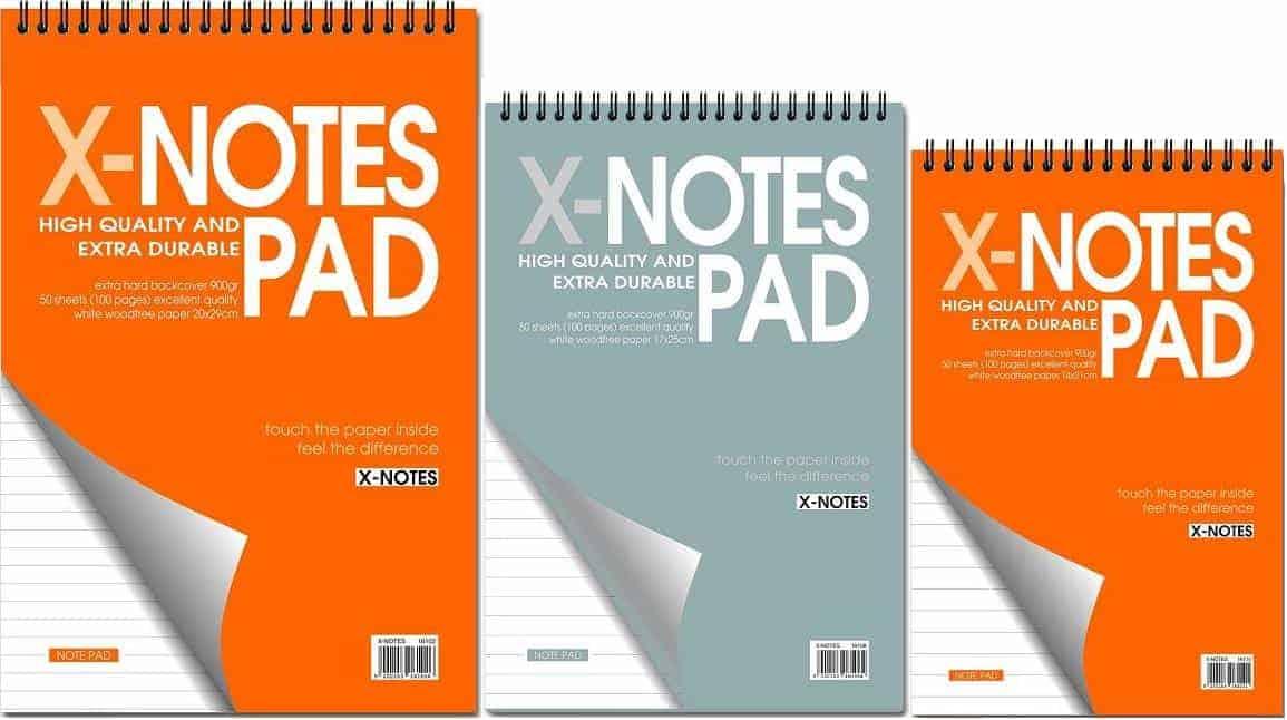μπλοκ σπιραλ 120 σελιδες x-notes pad officeworld