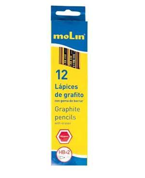 συσκευασια μολυβι με σβηστρα ξυλινο molin officeworld