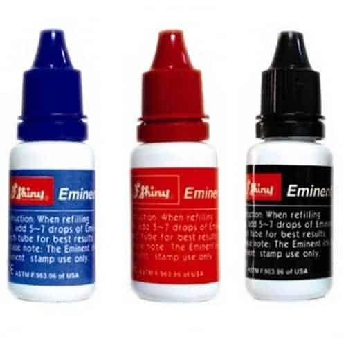 μελάνι σφραγίδων μπλε κόκκινο μαύρο shiny eminent officeworld