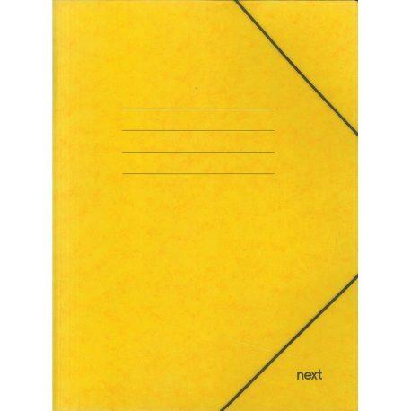 Φάκελος με Λάστιχο Πρεσπάν Κίτρινος 03407-11