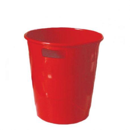 Καλάθι Αχρήστων Πλαστικό με Λαβές Κόκκινο 29006
