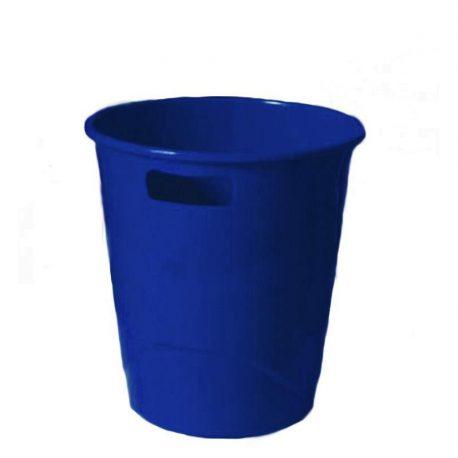 Καλάθι Αχρήστων Πλαστικό με Λαβές Μπλε 29006