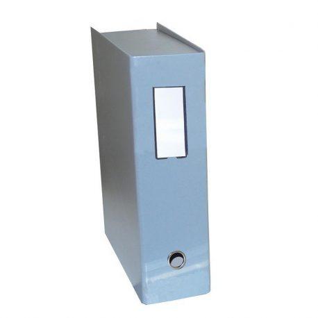 Κουτί Αρχειοθέτησης Σκληρό Δερματίνη Πολυτελείας Γκρι 01991