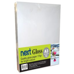 Gloss A3 170gr. premium gloss paper 250ph. Next