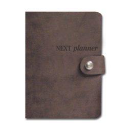 Planner apo synthethiko derma A5 kaphe 14x21cm Next