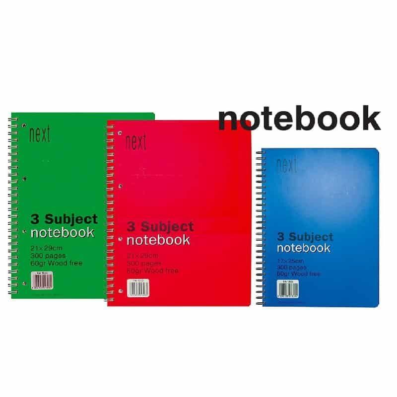 Tetradia notebook spiral Next