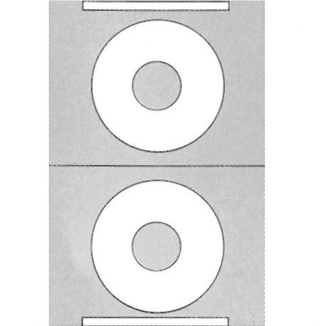 Etiketes aytokollhtes leykes CD-DVD 2-ph 100 phyllwn ø114,5mm A4 Markin