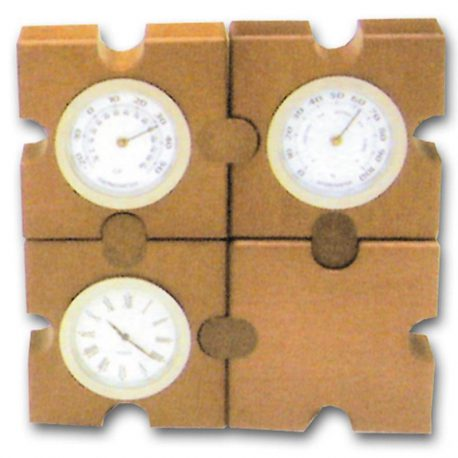 Roloi-barometro-thermometro se pazl xylino Υ11x11x3,5cm Bestar