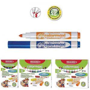 Markadoroi jumbo 'Colormaxi' 6 chrwmata Fibracolor