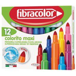 Markadoroi zwgraphikhs Colorito maxi 12 chrwmata Fibracolor