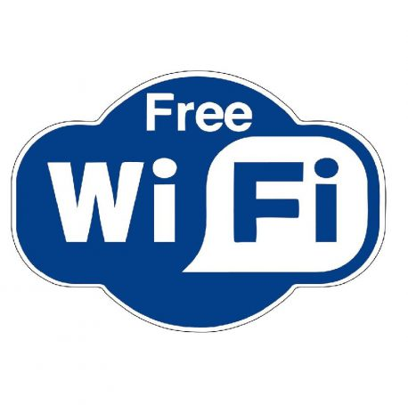 Epigraphi PVC 'Free Wi-fi' 15x20cm Next