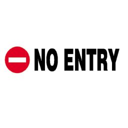 Epigraphi PVC 'No entry' 7x22cm Next
