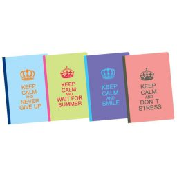 Eykampto tetradio flexi keep calm 17x25cm 192 selidwn 1 thema Next