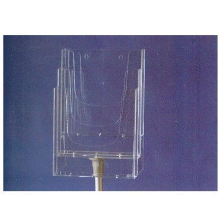 Stant epidapedio akryliko A4 me 3 thikes 21x29.7cm