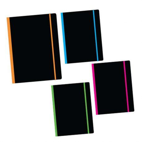 Tetradio flexi black 21x29cm 192 selides 2 thematwn me lasticho Next