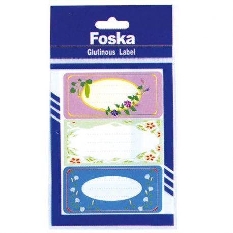 Etiketes tetradiwn diaphora schedia 8x3.6cm Foska