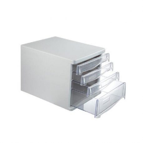 Syrtariera plastikh me 4 syrtaria gkri A4 Υ25x33,8x26,5cm Comix